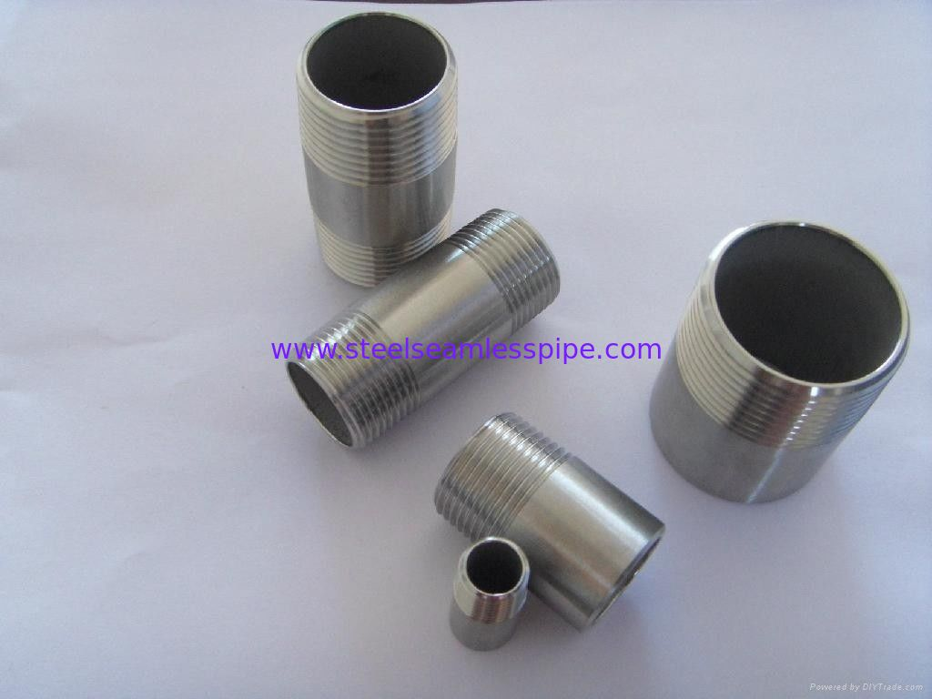 Butt weld fittings nickel alloy pipe nipple stainless