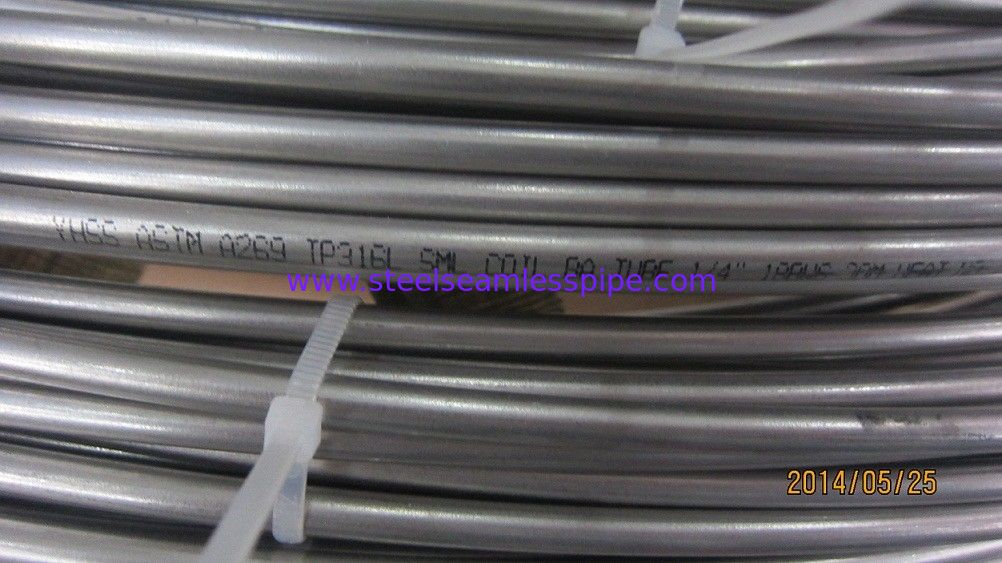 TP316L Material Stainless Coil Tubing ASTM A269 Standard For Fluid Industry