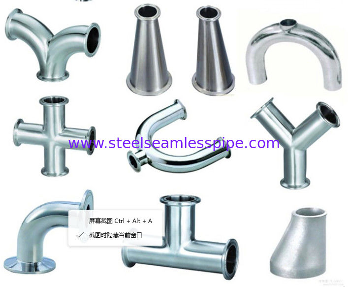 Mirror polished sanitary stainless steel pipe fitting Material 304,316-Accesorios sanitarios