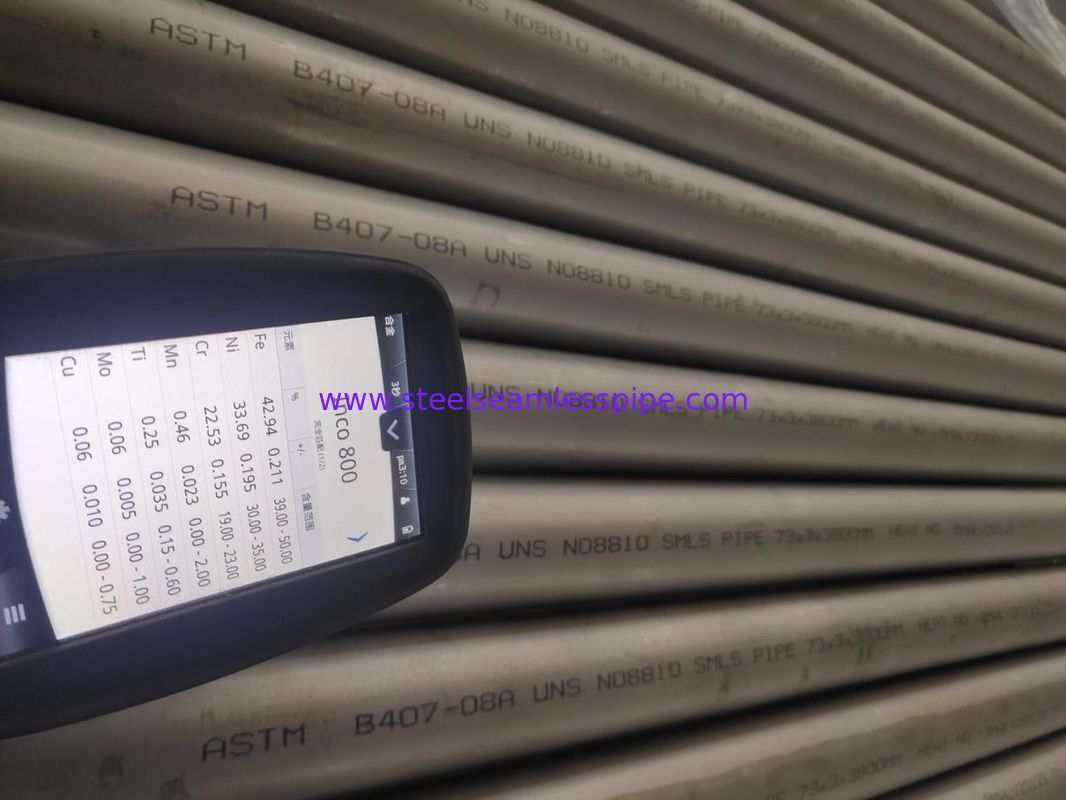 Heat Exchanger And Bolier Incoloy Pipe ASME UNS N08810 Inconel SMLS Tubes