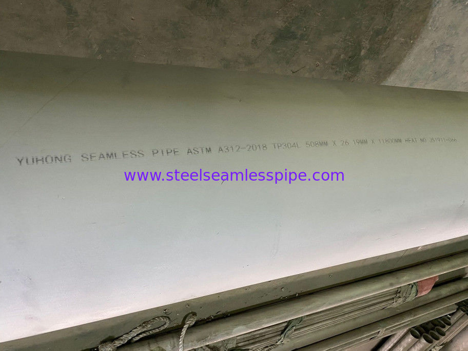 ASTM A312 Thick And Long Stainless Steel Seamless Pipe 508X26.19X11800MM