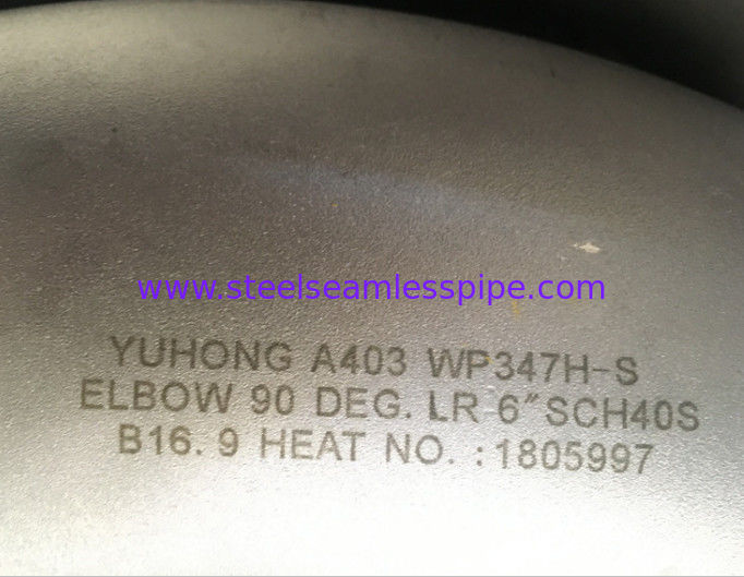 A403 WP347H Stainless Steel Pipe Fitting 90 Degree Elbow