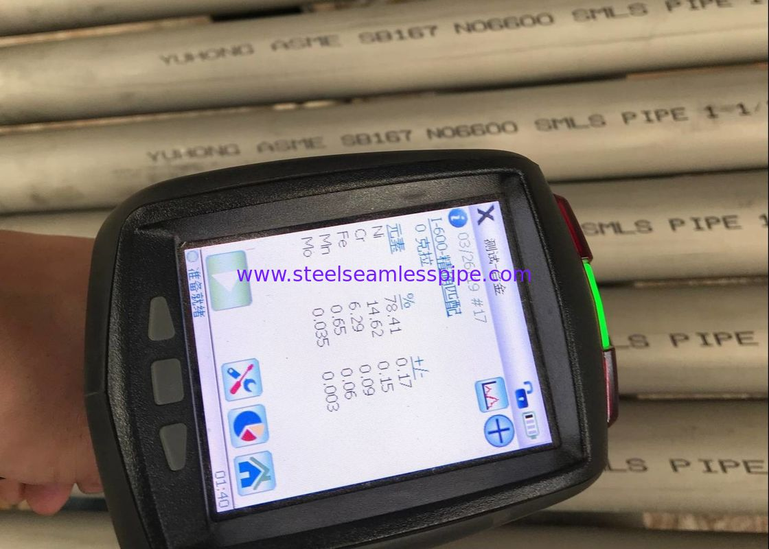 3MM Heat Resistance ASME SB167 Inconel 600 Pipe