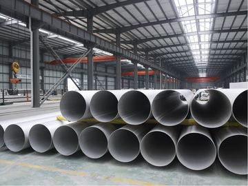 China STAINLESS STEEL WELDED PIPE,ASTM A312 ASTM A358  TP316/316L TP321/321H BEVELLED END 100% RT. UT. HT. ET factory