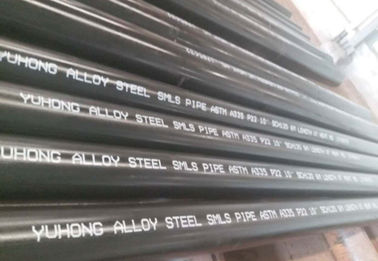 Alloy Steel Seamless Pipe ASTM A335 P22/P11/P9/P91 WITH Black or Varnish Coating Bevelled End