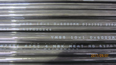 High Pressure Seamless Boiler tube DIN2391C ST52.4 NBK + Phosphating Precision Cold Drawn DNV / GL Approved