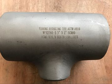 China Super Duplex Forged Steel Fittings ASTM A815 UNS S32750 / S32760 Seamless Tee / Reducer Tee factory