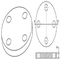 Steel Flange, Blind Flanges ANSI B16.5 / ANSI B16.47 , DIN2527 / DIN2566 , BS4504 / BS4504