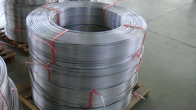 Bright Annealed Seamless Stainless Steel Coil Tubing A269 TP316L High Performance 0