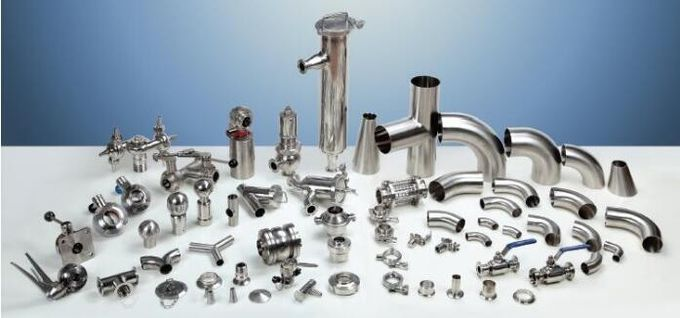 Mirror polished sanitary stainless steel pipe fitting Material SS304,SS316-Accesorios sanitarios